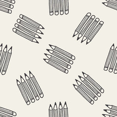 Doodle Pencil seamless pattern background