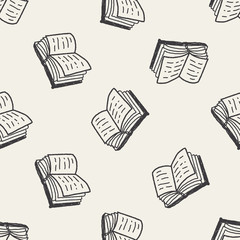 doodle book seamless pattern background
