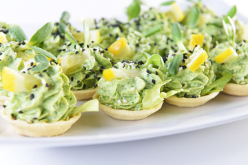 appetizer with greens