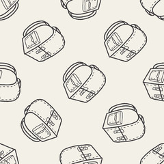 doodle School bag seamless pattern background