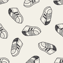 Doodle Sneakers seamless pattern background