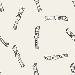 recorder doodle seamless pattern background