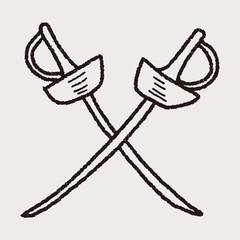 fencing doodle