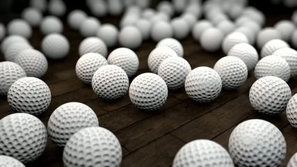 Golf Ball Wooden Floor