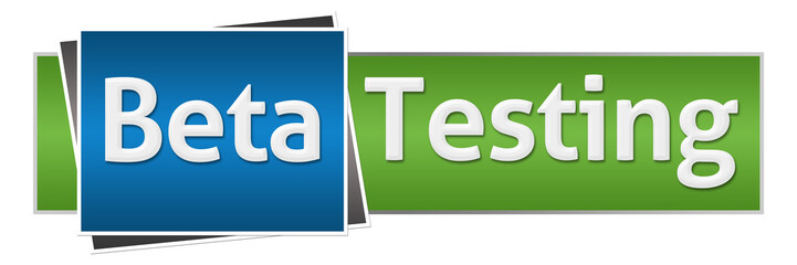 Beta Testing Green Blue Horizontal