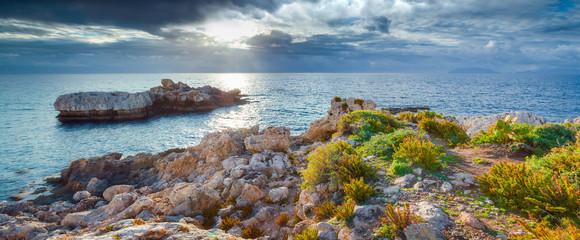 Panorama of nature reserve Piscina di Venere