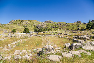 Hattusa, Turkey. Beautiful landscape with ancient ruins