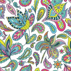 Summer Pattern with Indian Motifs