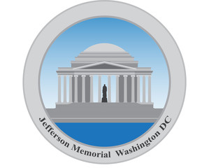 Jefferson Memorial, Washington DC. USA. Vector illustration.