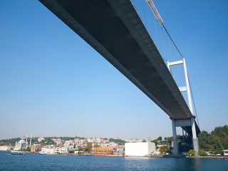 Mehmet Fatih bridge in Istanbul, bottom view