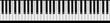 Leinwanddruck Bild - Klaviertastatur endlos verlängerbar