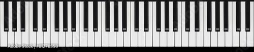 Leinwanddruck Bild Klaviertastatur endlos verlängerbar