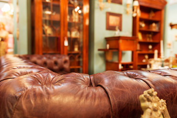Luxury sofa in fashion interior