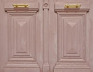 vintage double door detail