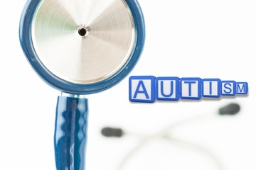 Composite image of autism building blocks