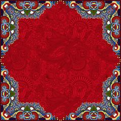 floral vintage frame, ukrainian ethnic style.