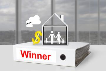 office binder winner family dollar symbol