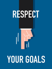 Words RESPECT YOUR GOALS