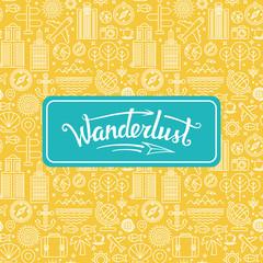 Vector wanderlust logo