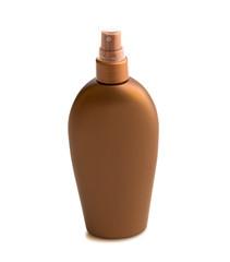 Bottle with suntan cream