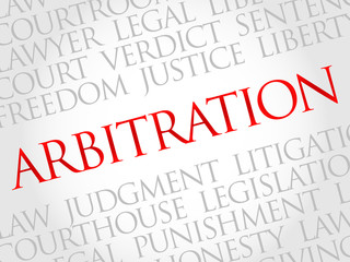 Arbitration word cloud concept
