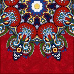 red round pattern in ukrainian oriental ethnic style