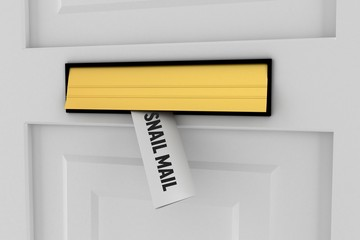 Snail mail against letter through post box