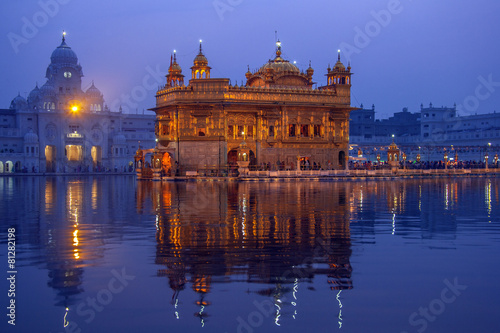 Tuinposter Bedehuis Golden Temple of Amritsar - Pubjab - India