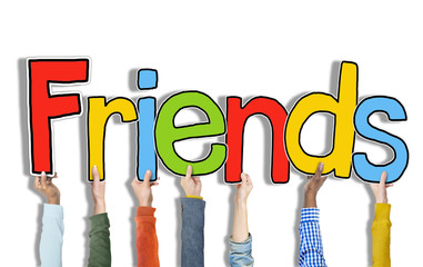 Multiethnic Group Hands Holding Friends Concept