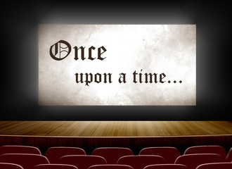 Cinema screen with once upon a time