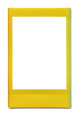 polaroid photo frame isolated on white with clipping path includ