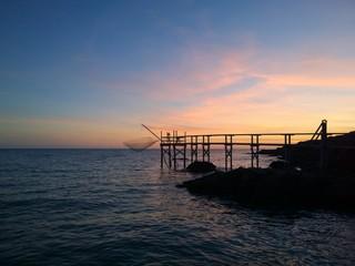 Coucher de soleil en bords de mer - Préfailles, France