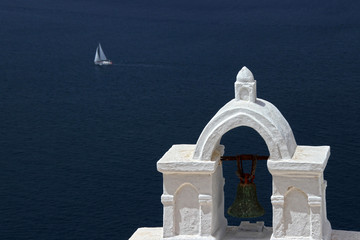 Church bell in Santorini