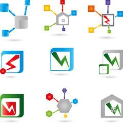 Logos Sammlung, IT, Netzwerk, Elektriker