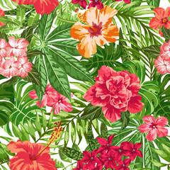 Seamless exotic pattern.
