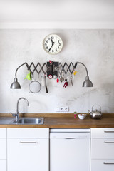 New kitchen in a very modern industrial style