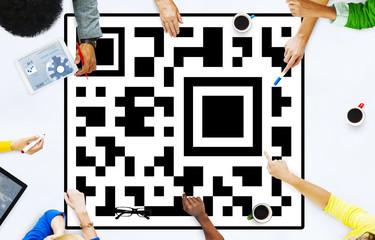 Quick Response Code Merchandise Digital Data Concept