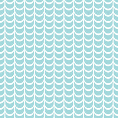Retro Seamless Pattern Abstract Waves Turquoise