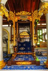 Mimbar of Kampung Kling Mosque in Malacca, Malaysia