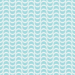 Seamless Pattern Abstract Waves Turquoise Retro