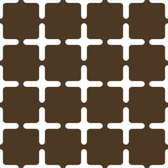 Muster Gitter braun weiß geometrisch symetrisch