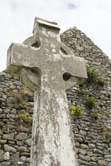 old celtic cross head stone