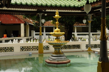 Ablution of Kampung Kling Mosque in Malacca, Malaysia