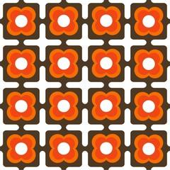 Hintergrund spaciges Muster 70er Jahre Pattern saemless