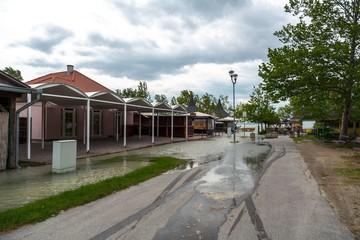 Flooded terrain in Balaton