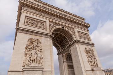 Arc de Triomphe, Arch of Triumph Famous Landmark in Paris France