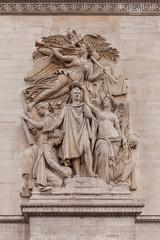 Details of Sculptures on Arch of Triumph, Paris France