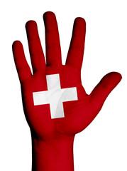 Switzerland Flag Concept. Isolated on white