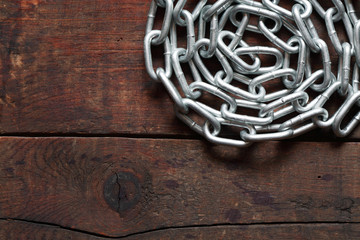 Chain On Wood