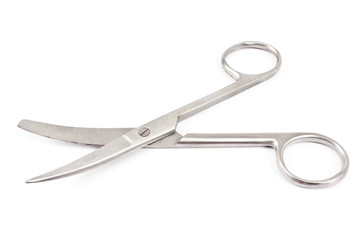 Nail scissors isolated on  white